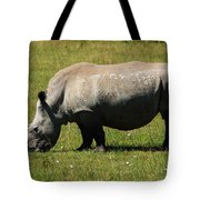 Lake Nakuru White Rhinoceros Tote Bag