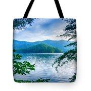 Lake Santeetlah In Great Smoky Mountains North Carolina Tote Bag