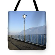 Lakefront With Mountain Tote Bag