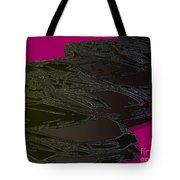 Black Magenta Bull Tote Bag