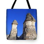 Landscape Of Limestone Fairy Chimneys At Zelve In Cappadocia Turkey Tote Bag