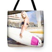 Landscape Surfing Portrait Tote Bag