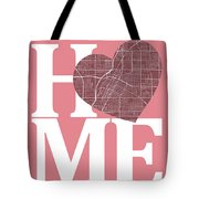 Las Vegas Street Map Home Heart - Las Vegas Nevada Road Map In A Tote Bag