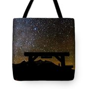 Last Dollar Gate And Milky Way Starry Tote Bag