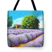 Lavender Lines Tote Bag
