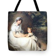 Lawrence's Lady Mary Templetown And Her Eldest Son Tote Bag