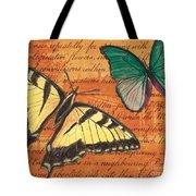 Le Papillon 3 Tote Bag