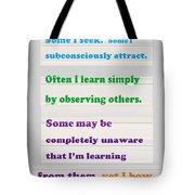 Learning Observation Teacher Student Gratitude Background Designs  And Color Tones N Color Shades Av Tote Bag