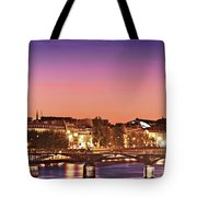 Left Bank At Night / Paris Tote Bag by Barry O Carroll