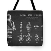 Lego Toy Figure Patent Drawing Tote Bag