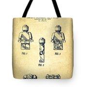 Lego Toy Figure Patent - Vintage Tote Bag