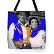 Leif Erickson Linda Cristal The High Chaparral Set Publicity Photo Old Tucson Arizona C. 1967-2012 Tote Bag