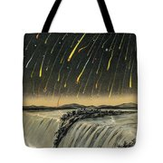 Leonid Meteor Shower Of 1833 Tote Bag
