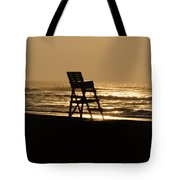 Lifeguard Chair In The Morning Tote Bag