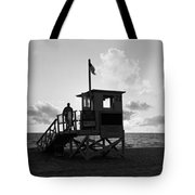 Lifeguard Hut On The Beach, 22nd St Tote Bag
