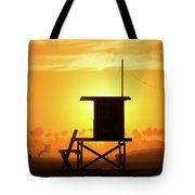 Lifeguard Tower On The Beach, Newport Tote Bag