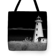 Lighthouse At North Cape On Pei Tote Bag