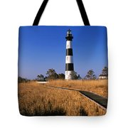 Lighthouse In A Field, Bodie Island Tote Bag