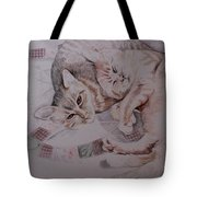 Lilly And Maddie Tote Bag by Kathy Weidner