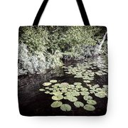 Lily Pads On Dark Water Tote Bag
