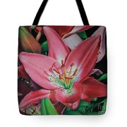 Lily's Garden Tote Bag