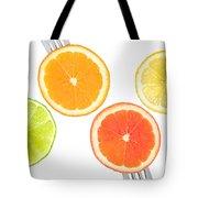 Lime Lemon Orange And Grapefruit Citrus Fruit Tote Bag