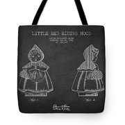 Little Red Riding Hood Patent Drawing From 1943 Tote Bag