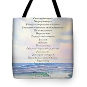 Live One Day At A Time Tote Bag