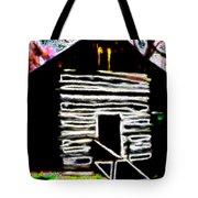 Log Cabin Home Tote Bag