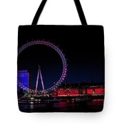 London Eye In Red White And Blue Tote Bag