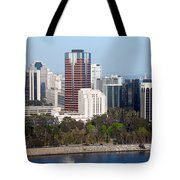 Long Beach Skyline Tote Bag