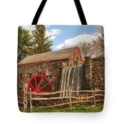 Longfellow's Wayside Inn Grist Mill Tote Bag by Jeff Folger