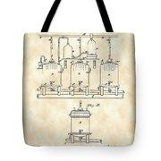 Louis Pasteur Beer Brewing Patent 1873 - Vintage Tote Bag