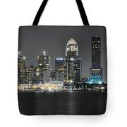 Night Lights Of Louisville Tote Bag