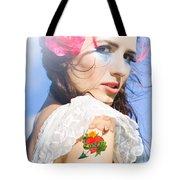 Love Heart And Arrow Tattoo Tote Bag