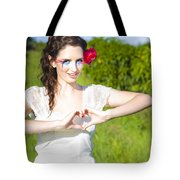 Love Heart Sign Tote Bag