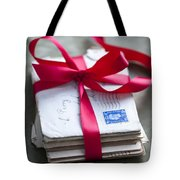 Love Letters Tied With Ribbon Tote Bag