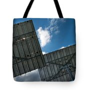 Low Angle View Of Solar Panels Tote Bag