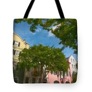 Lowcountry Rainbow Row Tote Bag