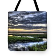 Cloud Reflections Over The Marsh Tote Bag