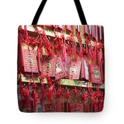 Lucky Wishes In Chinese Temple Tote Bag