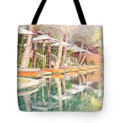 Luxury Pool With Loungers Tote Bag