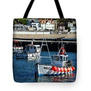 Lyme Regis Harbour Tote Bag