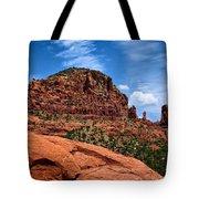 Madonna And Child Two Nuns Rock Formations Sedona Arizona Tote Bag