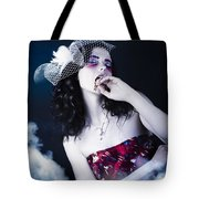 Makeup Beauty With Gothic Hair And Bloody Mouth Tote Bag