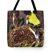 Male American Goldfinch Tote Bag