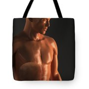 Male Figure With Digestive System Tote Bag