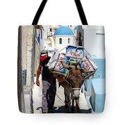 Man And His Pack Mule Tote Bag