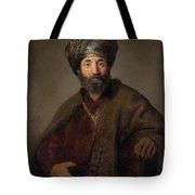 Man In Oriental Costume Tote Bag