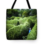 Man Lost Inside A Maze Or Labyrinth Tote Bag